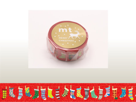 MT Masking Tape Christmas Socks 20mm MTCMAS61