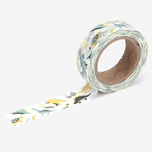 Dailylike Washi Tape - Dinosaur 15mm