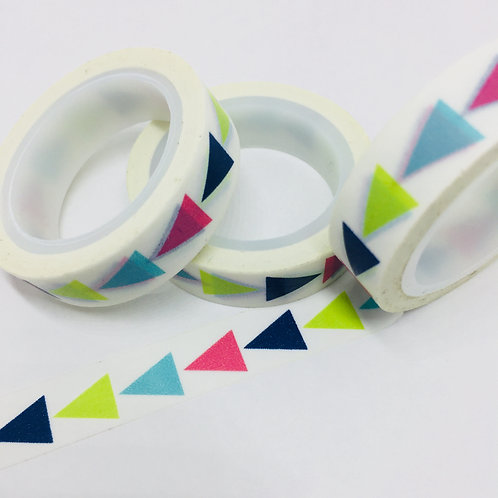 Thin Skinny 4 Colour Triangles 10mm
