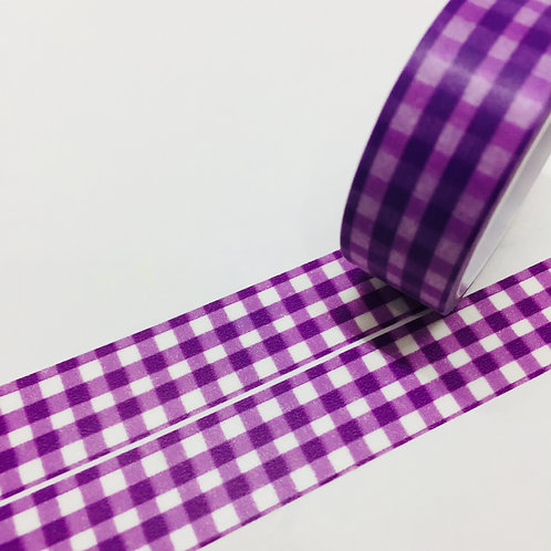 Super Value Violet Gingham 15mm