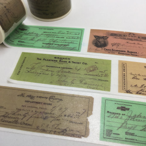 Wide Bank Cheques 30mm