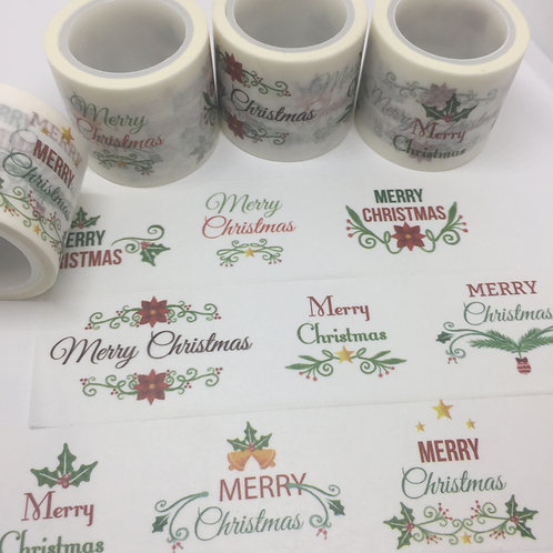 Wide Merry Christmas 9 Ways 30mm