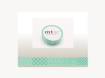 MT Masking Tape Line Pattern Green 15mm MT01D294