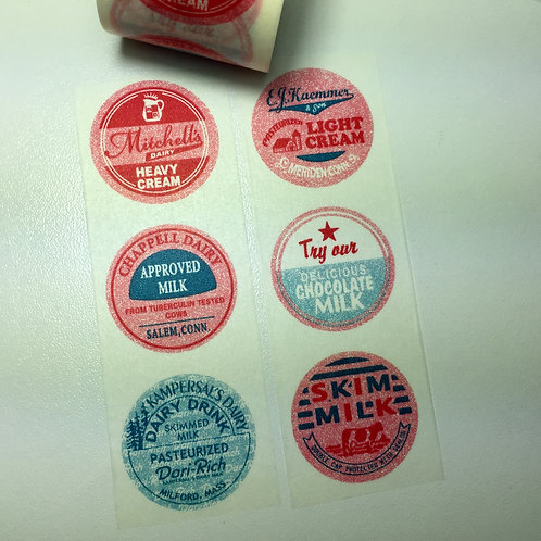 Wide Dairy Labels 38mm