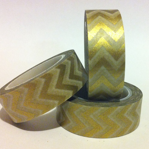 Chevrons - Gold 15mm