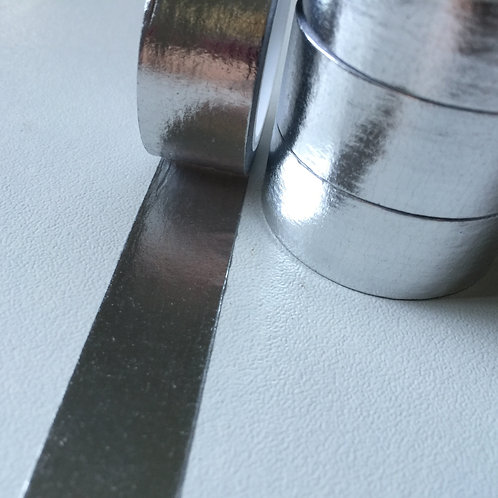 Foil Washi - Solid Colour Silver 15mm