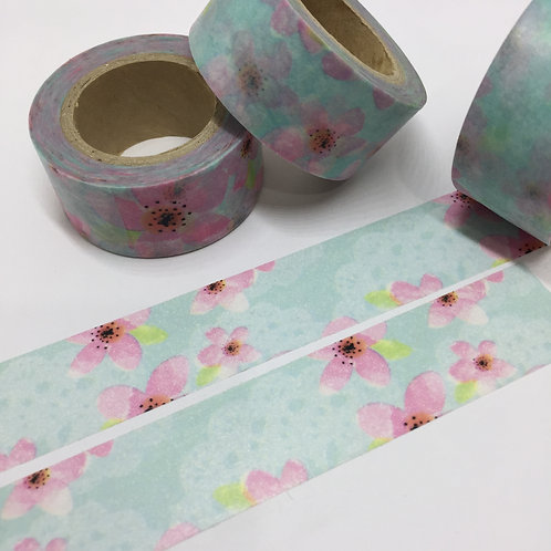 Wide Watercolour & Lace Floral 20mm