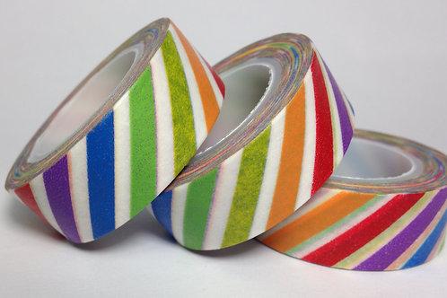 Rainbow Diagonal Stripe 15mm