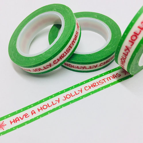 Thin Skinny Holly Jolly Christmas 10mm