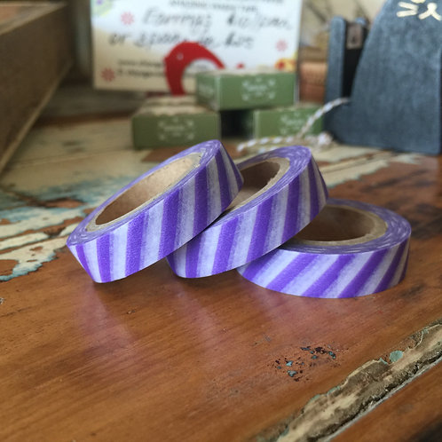 Thin Violet Diagonal Stripe 10mm