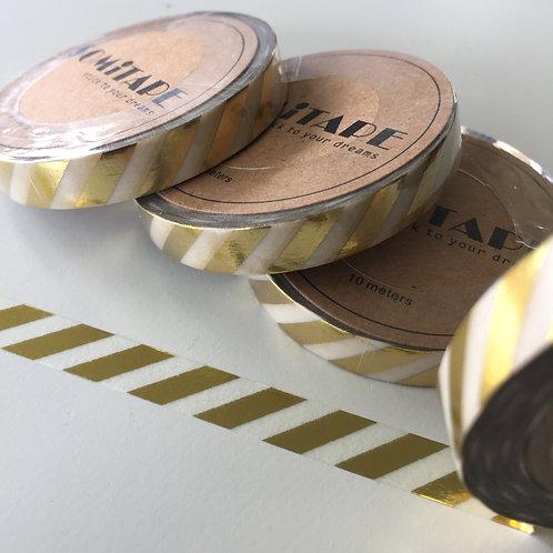 Somi Skinny Thin Gold Foil Diagonal Stripe 7.5mm