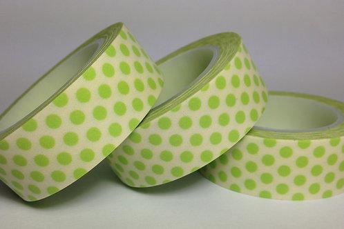 Green Polka Dots 15mm