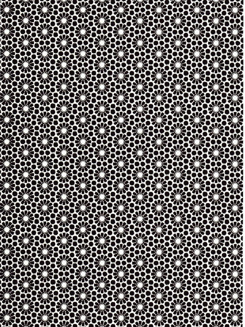 Premium Single Sheet - Chiyogami Abstract Black A4