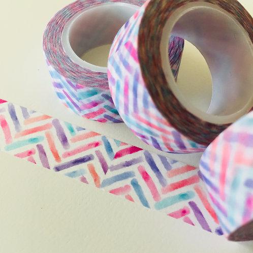 Pastel Stencilled Zigzag 15mm