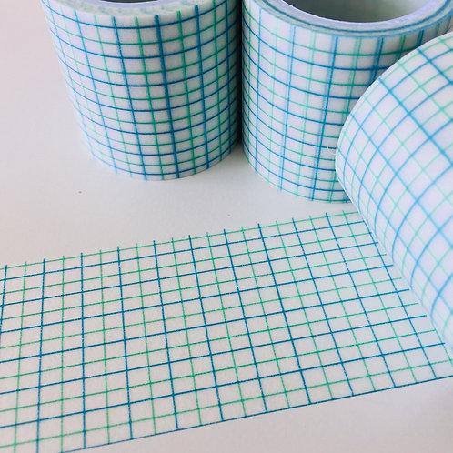 Extra Wide Blue Green Grid 40mm