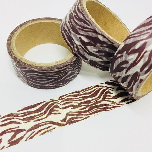 Wide Chocolate Zebra 20mm