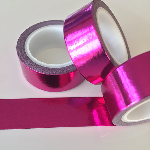 Foil Washi - Solid Colour Pink 15mm