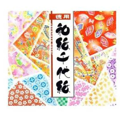 "Origami Paper Economy Washi 300's 75mm 3"" Single Sided"