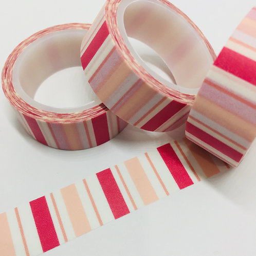 SUPER VALUE Pinks Striped 15mm