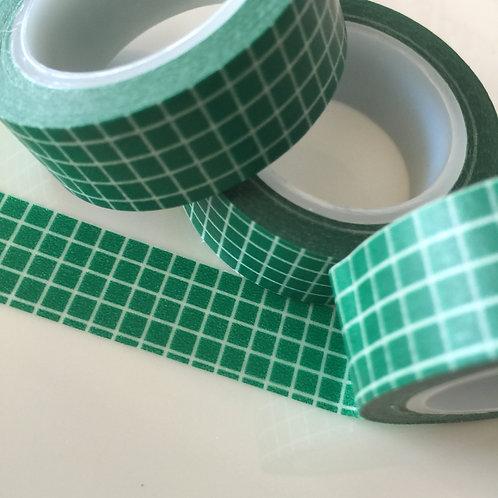 Dark Green Grid 15mm