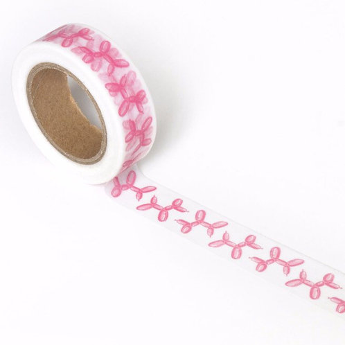 Smarty Pants Paper Co Designer Washi Balloon Dog Pink 15mm