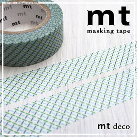 MT Masking Tape Dashed Green 15mm MT01D300