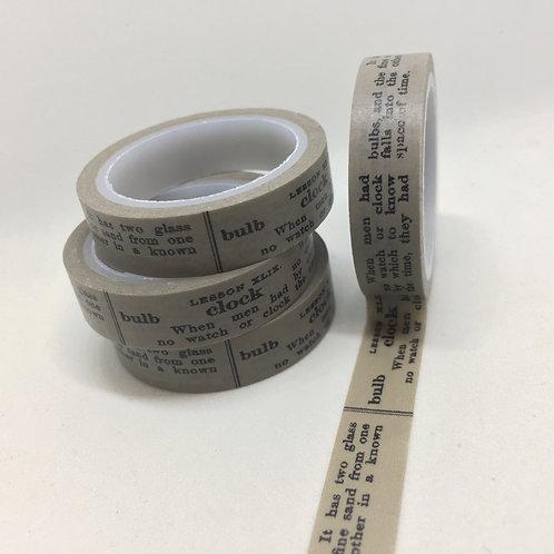 Thin Skinny  Black Script 10mm x 5mtrs