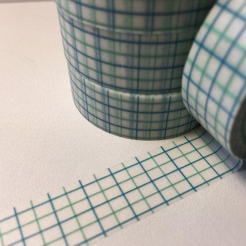 Blue/Green Grid 15mm