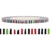 Funtape 3mm Red/Black/Green Stripe
