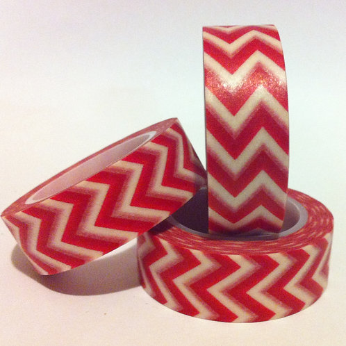 Chevrons - Red 15mm
