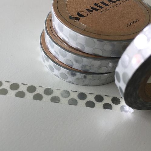 Somi Skinny Thin Big Silver Foil Spots 7.5mm