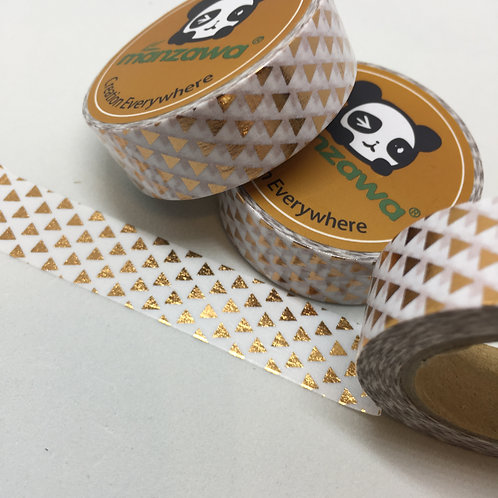 Rose Gold Foil Triangles 15mm