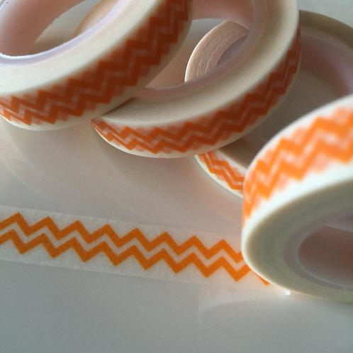 Thin Double Orange Zigzag 10mm