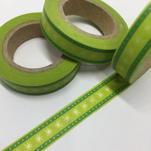 Thin Skinny Green & Lime Border 10mm