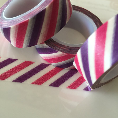 Vibrant Diagonal Stripe 15mm