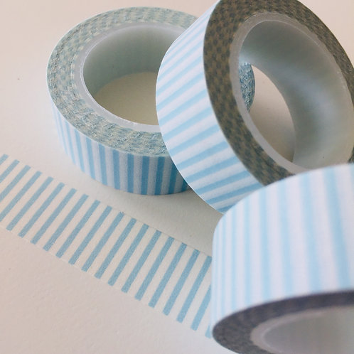 Baby Blue Stripe 15mm
