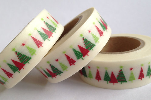 Red/Green Christmas Trees 15mm