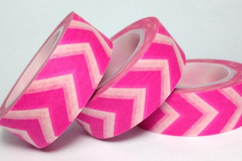 Neon Pink Wide Chevron 15mm