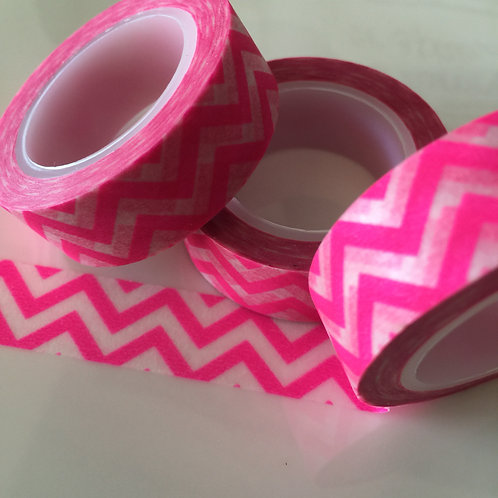 Neon Pink Zigzag 15mm