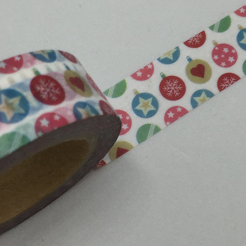 Ornamental Christmas Washi Tape 15mm