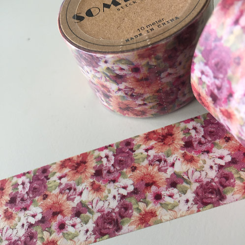 Somi Wide Pretty Pinks Floral 30mm