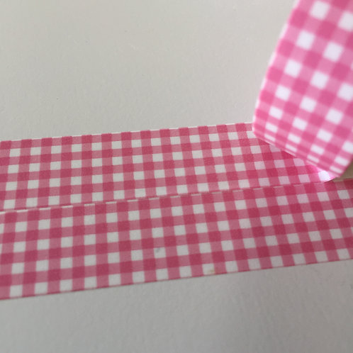Super Value Pink Gingham 15mm