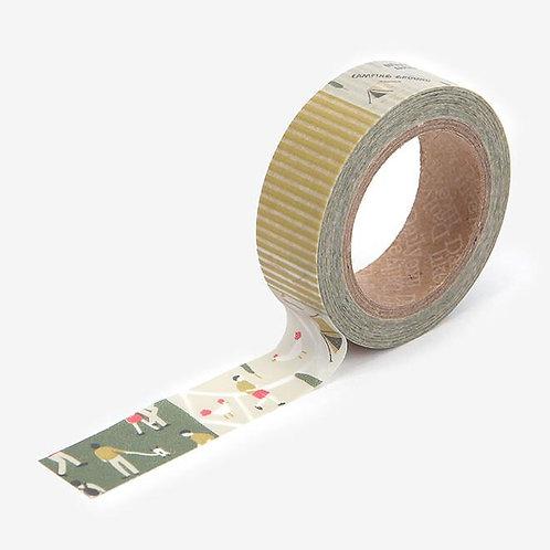 Dailylike Washi Tape - Camping Map 15mm