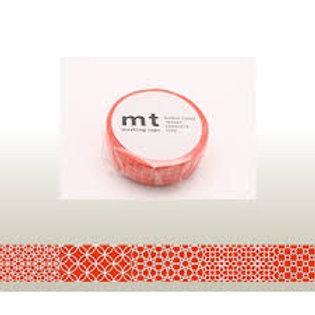 MT Masking Tape Line Pattern Red 15mm MT01D293