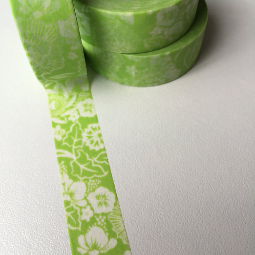 Lime Floral 15mm
