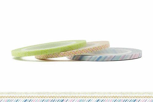 MT Masking Tape Slim 3mm 3 Piece Set - Pastel MTSLIMS07