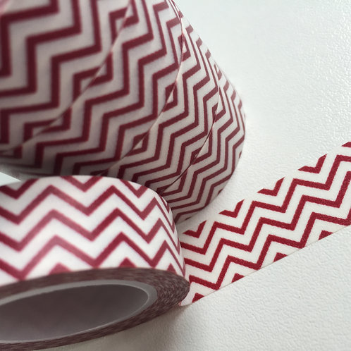 Ruby Red Zigzag 15mm