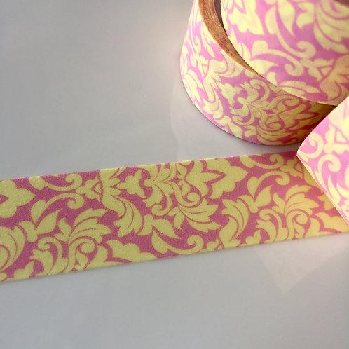 Wide Lemon Royale on Pink  20mm