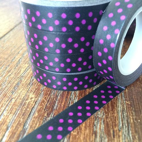 Thin Violet Spots on Black 10mm