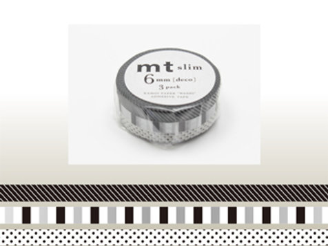 MT Slim Deco 6mm Masking Tape 3 Piece Set  F MTSLIM21